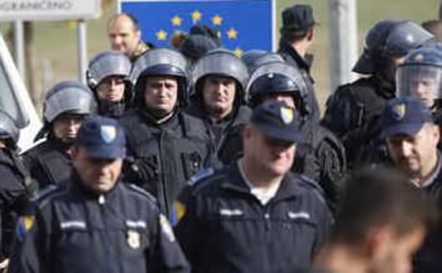 la polizia croata (ansa)