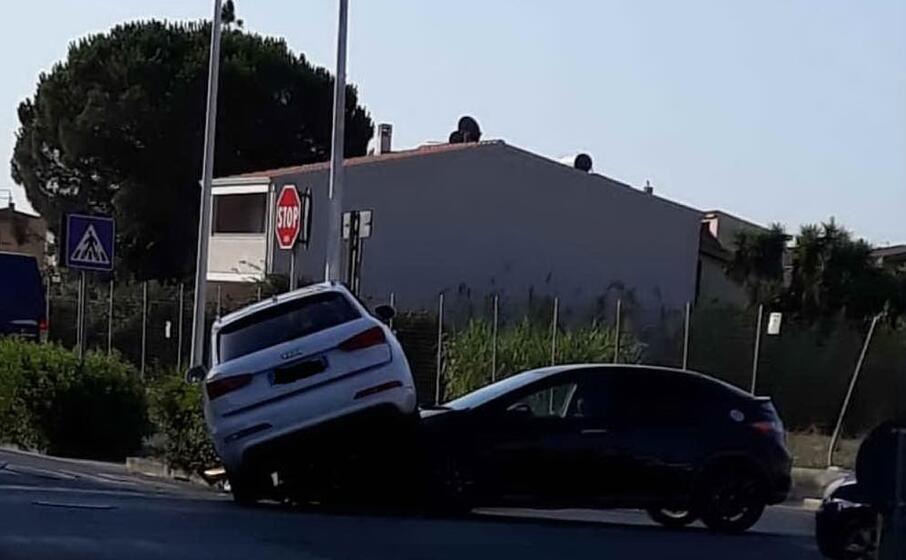 le due auto coinvolte (foto lorenzo ena)