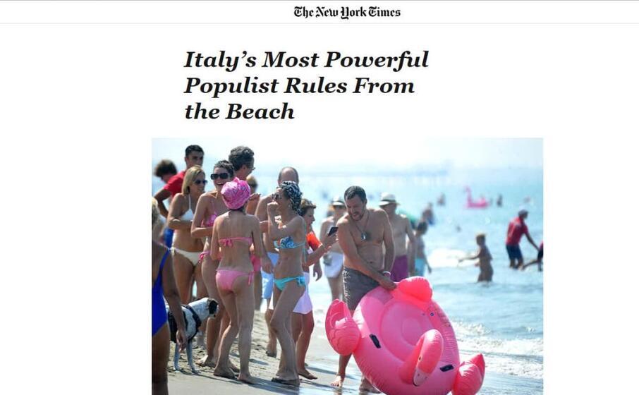 l articolo del new york times il pi potente populista d italia che governa dalla spiaggia
