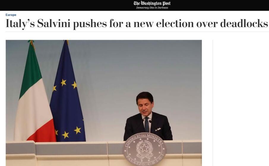 salvini spinge per nuove elezioni il washington post