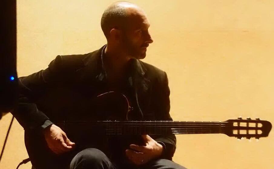 andrea congia chitarrista e regista della rassegna (foto l unione sarda loi)
