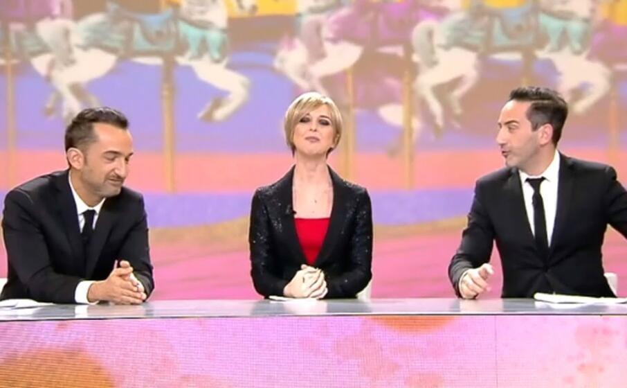 il ritorno in tv dopo la malattia il febbraio 2018 (ansa)