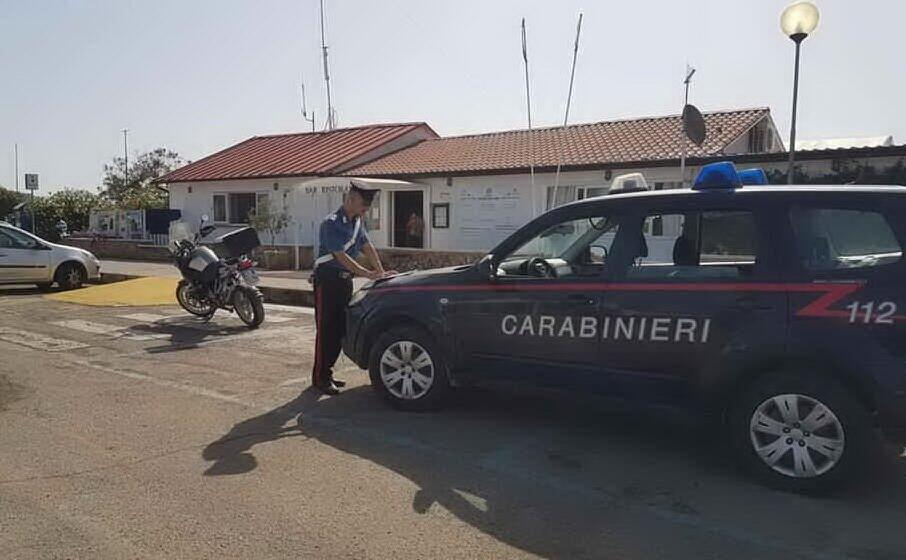 il luogo dell aggressione (foto carabinieri)
