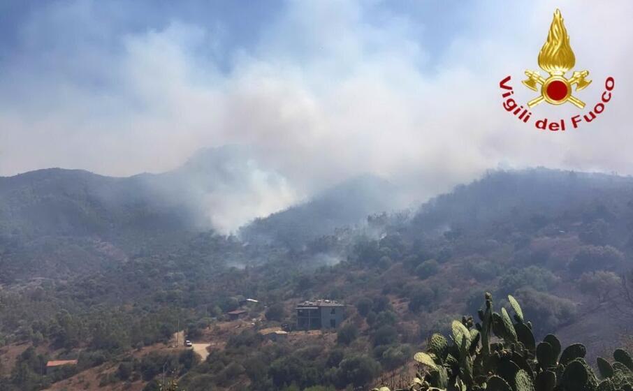 l incendio nella zona di torp (foto vigili del fuoco)