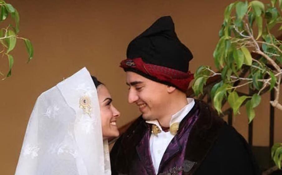 luca porcu e monica pilia due futuri sposi (foto l unione sarda serreli)