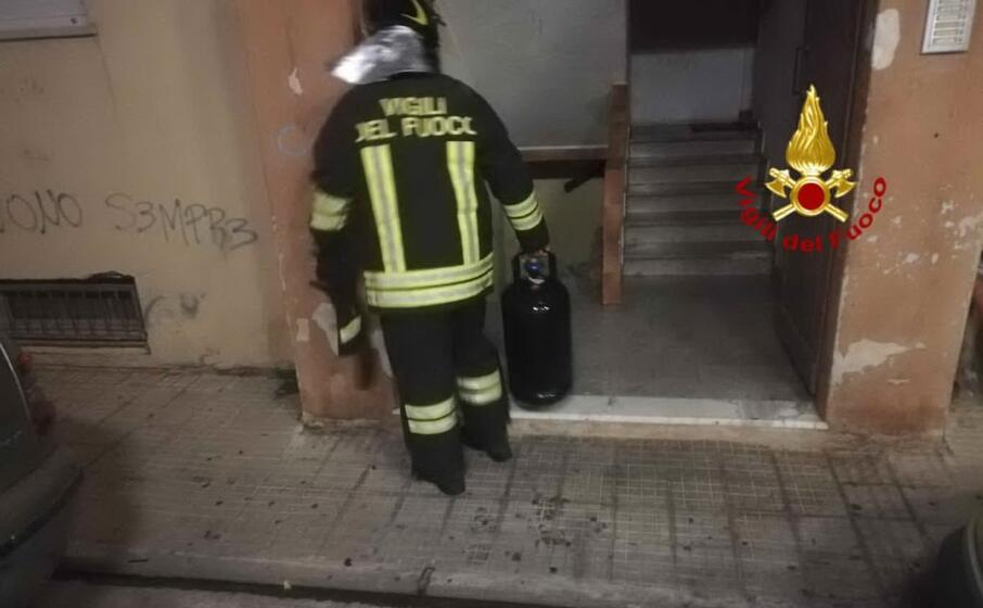 l intervento dei vigili del fuoco (foto vdf)