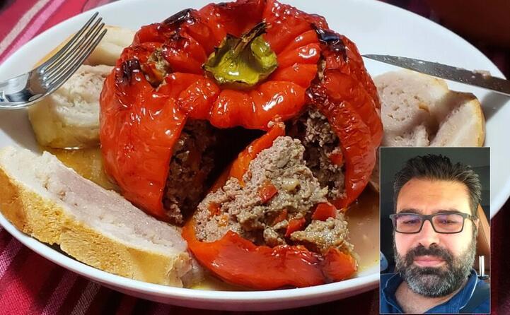 peperoni ripieni di carne di cavallo e cotti al forno di ignazio cannas da settimo san pietro