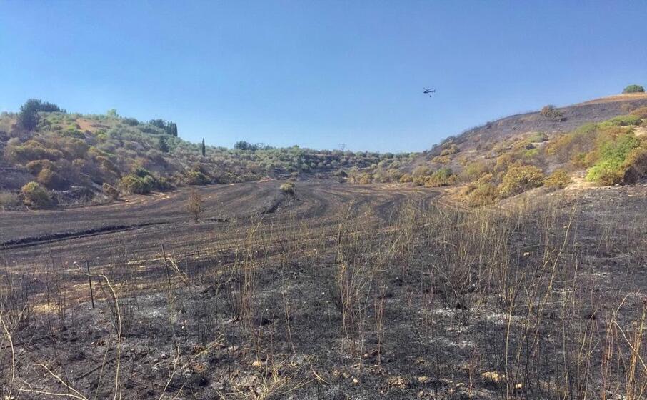 la zona colpita dall incendio (foto sanna)