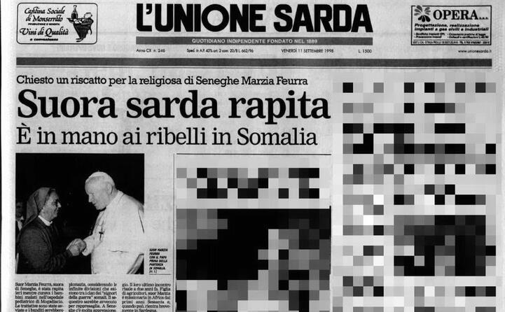 accaddeoggi 10 settembre 1998 suor marzia sequestrata a mogadiscio