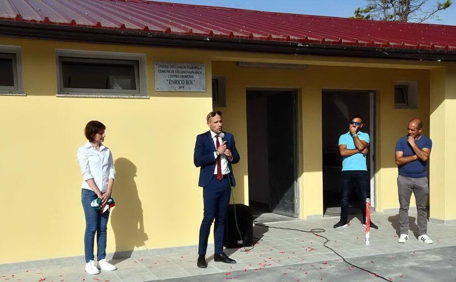 l intitolazione del campo sportivo a villanovafranca (foto l unione sarda pintori)