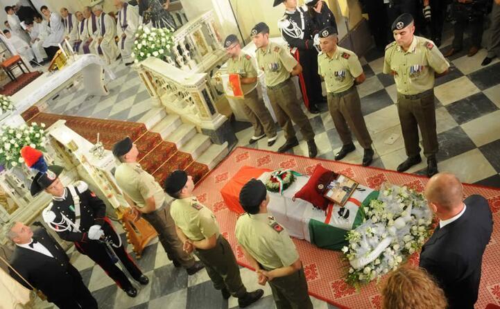 i funerali (archivio l unione sarda chergia)