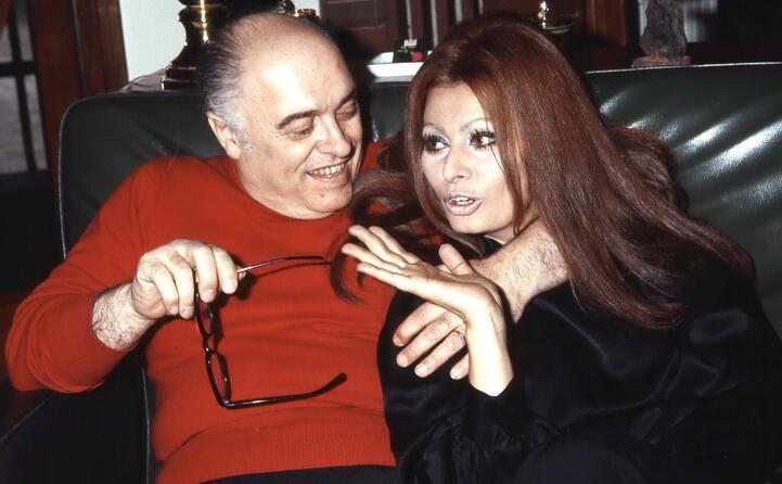 con il marito il produttore cinematografico carlo ponti