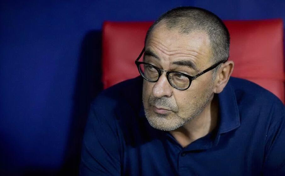 l allenatore della juve maurizio sarri (foto twitter)