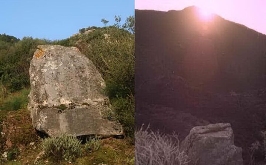 la particolare roccia in quarzite posta su un crinale del monte acqua tra le mete dell escursione (foto l unione sarda farris)