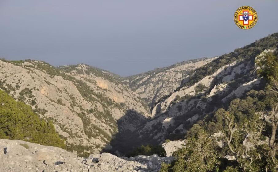 la zona dell intervento (foto soccorso alpino e speleologico della sardegna)