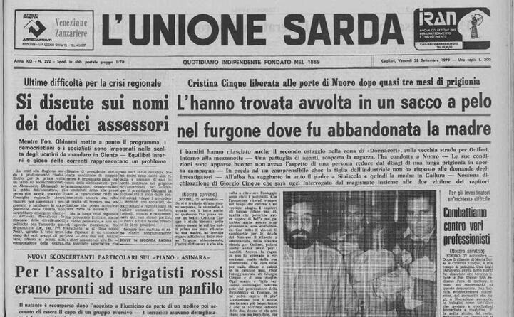 accaddeoggi 27 settembre 1979 i rapitori liberano cristina cinque