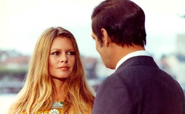 sul set nel 1973 prima dell addio al cinema