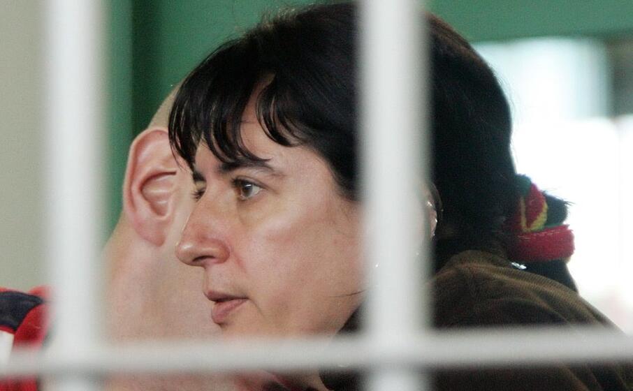 federica saraceni nell aula bunker di rebibbia durante il processo (ansa)