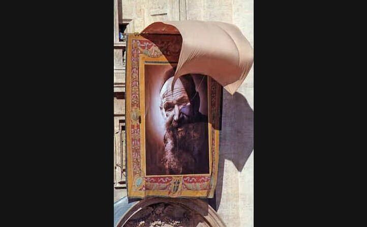 il suo quadro esposto in vaticano (archivio l unione sarda)