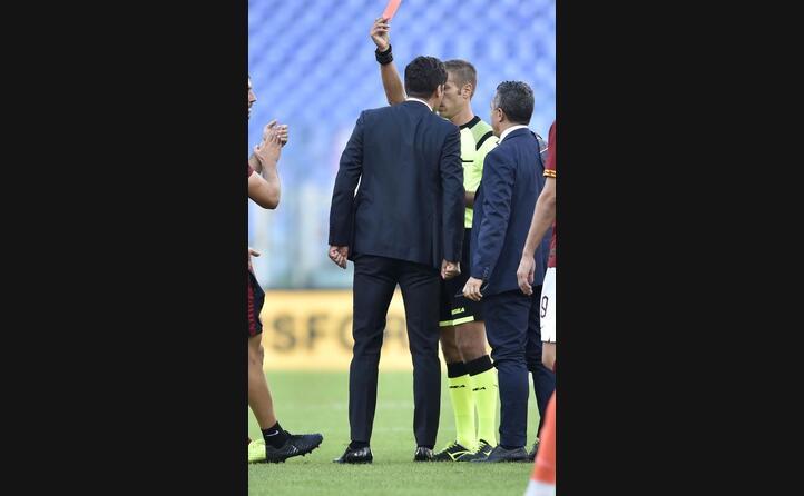 fonseca espulso per proteste per il gol annullato a kalinic