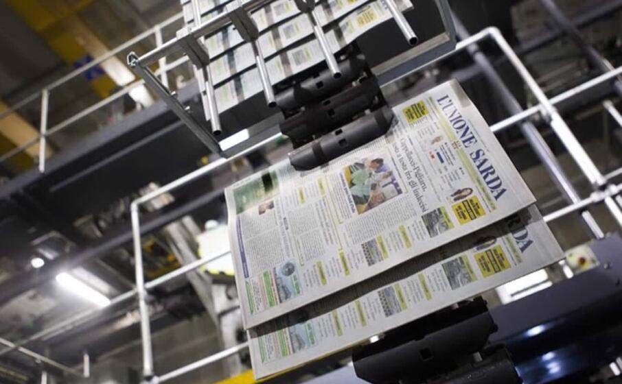 il centro stampa de l unione sarda (foto max solinas)