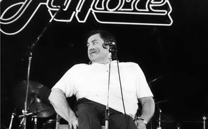 in un concerto degli anni ottanta (archivio l unione sarda)