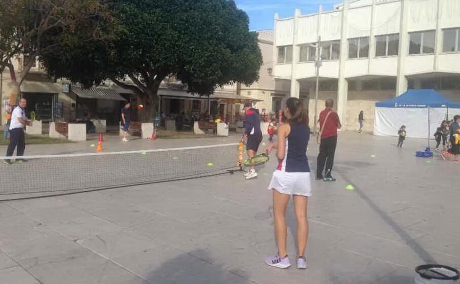 sport in piazza umberto i (l unione sarda pala)