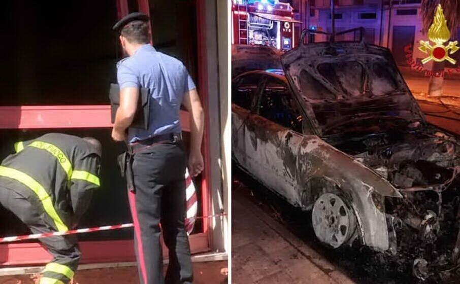 due immagini dall attentato di luglio a dorgali (archivio l unione sarda)