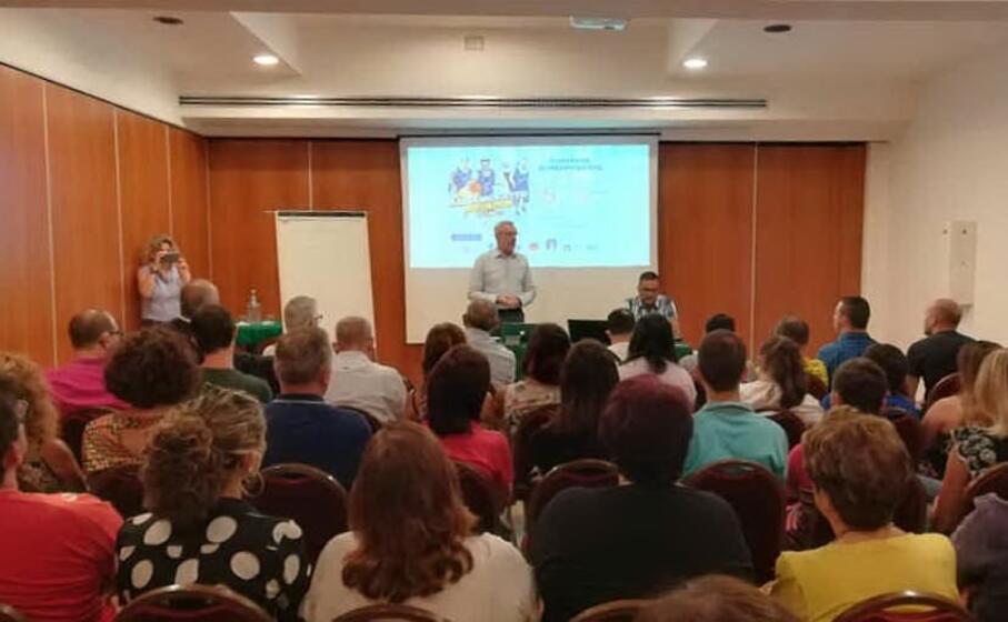 la conferenza di presentazione (foto l unione sarda garau)