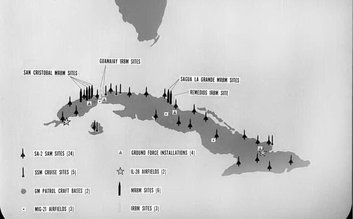 la crisi dura 13 giorni nella foto le basi militari sovietiche a cuba
