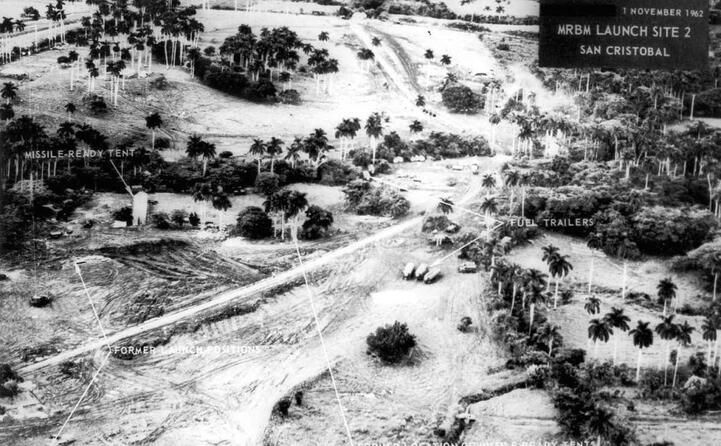 una veduta aerea del sito missilistico di cuba