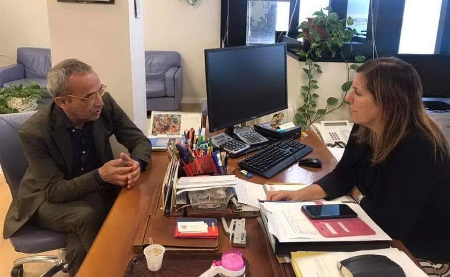l incontro tra l assessore alessandra zedda ed enzo cugusi (foto fornita dal presidente dell associazione)