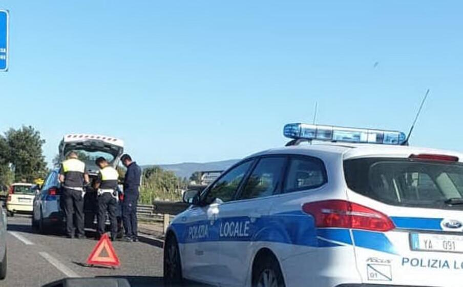 i rilievi sul luogo dell incidente (foto l unione sarda sanna)