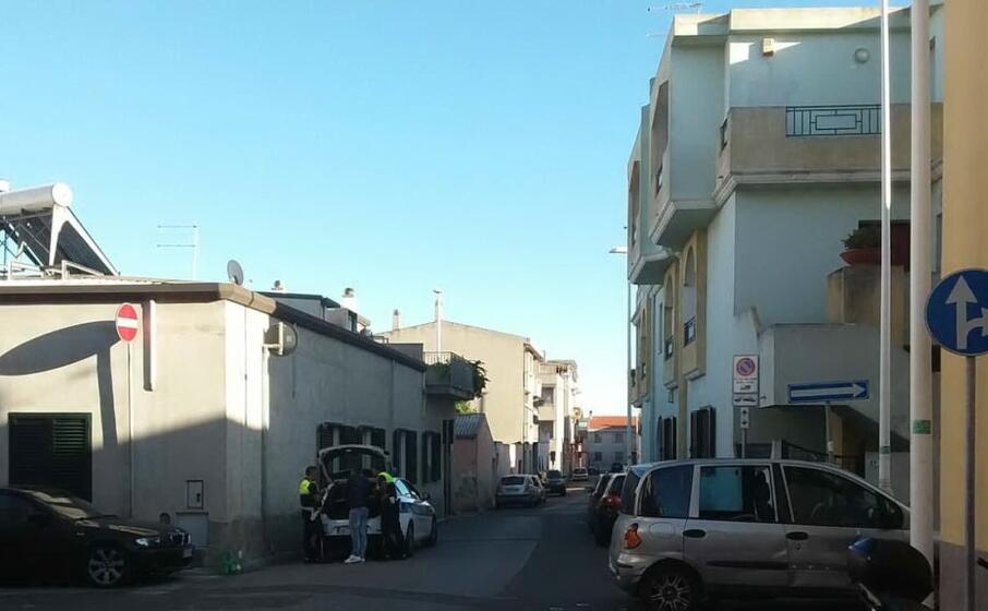 il luogo dell incidente (foto polizia municipale di cagliari)