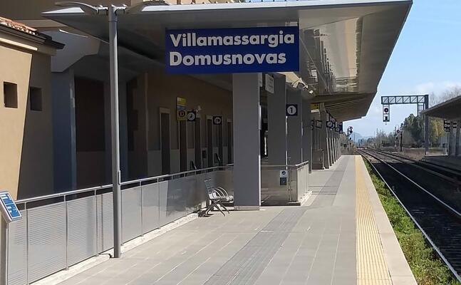 la stazione ferroviaria villamassargia domusnovas (foto l unione sarda farris)