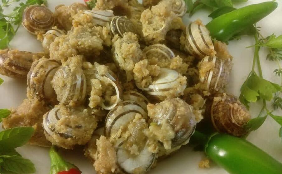 un piatto a base di lumache (foto l unione sarda sirigu)