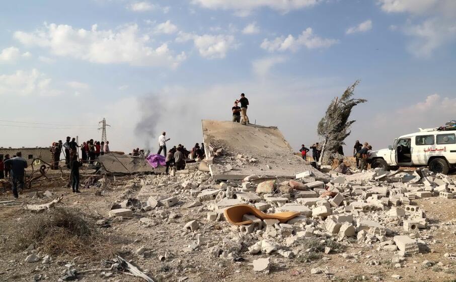 devastazione in siria (ansa)