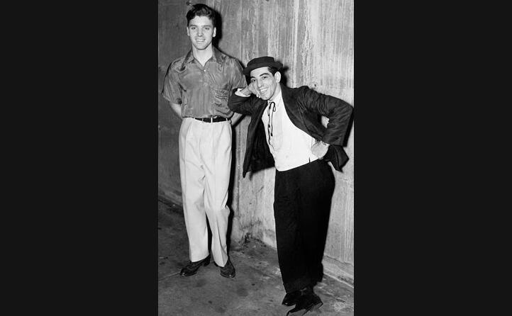 lancaster e nick cravat artisti circensi negli anni trenta