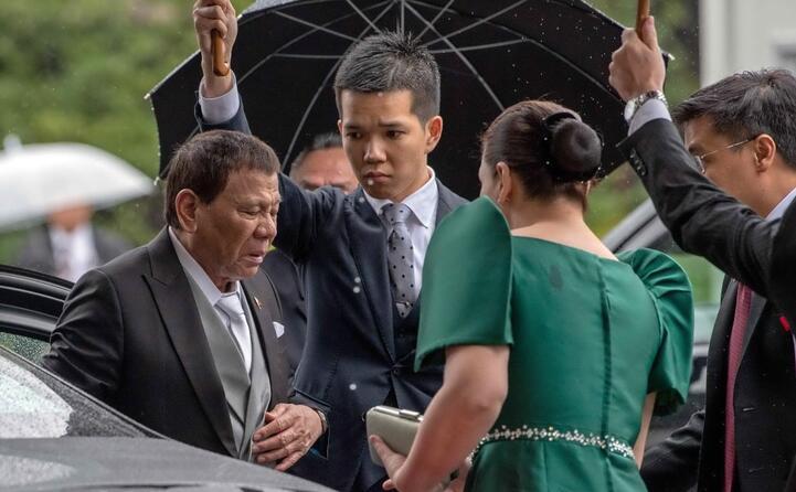 il capo di stato delle filippine rodrigo duterte