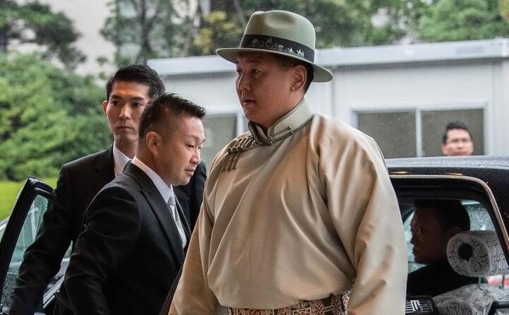 il presidente della mongolia khaltmaagiin battulga