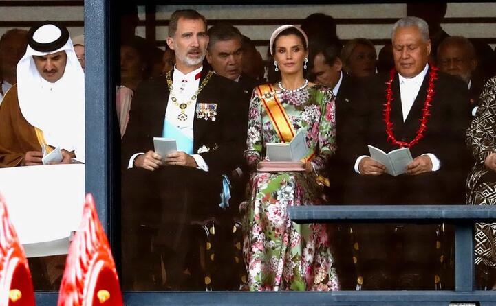 il re di spagna filippo e la regina letizia
