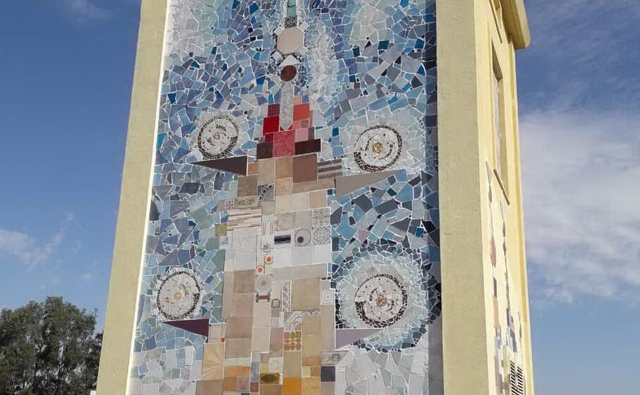 particolare del murale (foto l unione sarda ena)