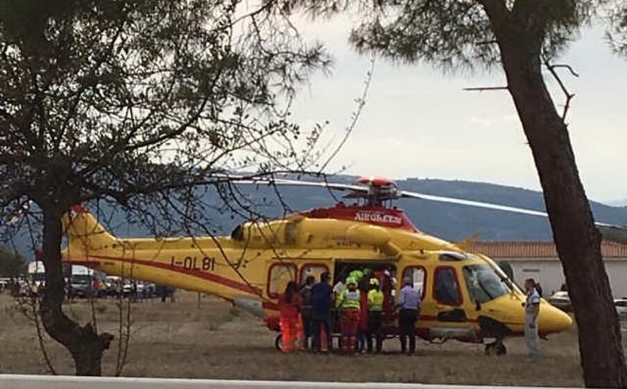 i soccorsi (foto l unione sarda orbana)