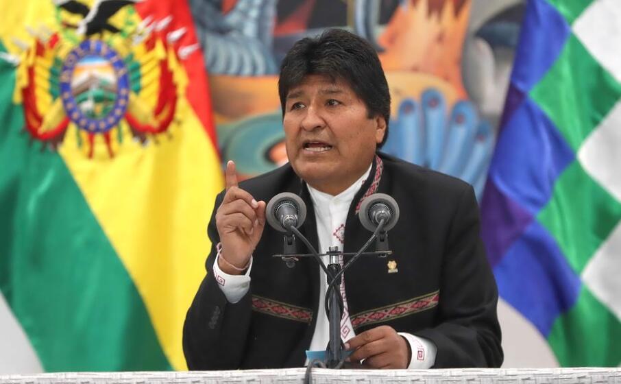 il presidente boliviano evo morales (ansa)