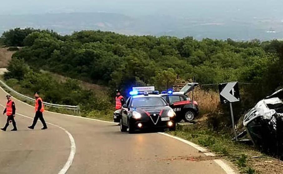 l incidente sulla provinciale fra gergei e isili (foto l unione sarda pintori)