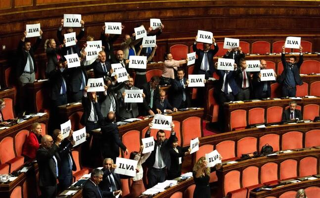 la protesta in aula (ansa)