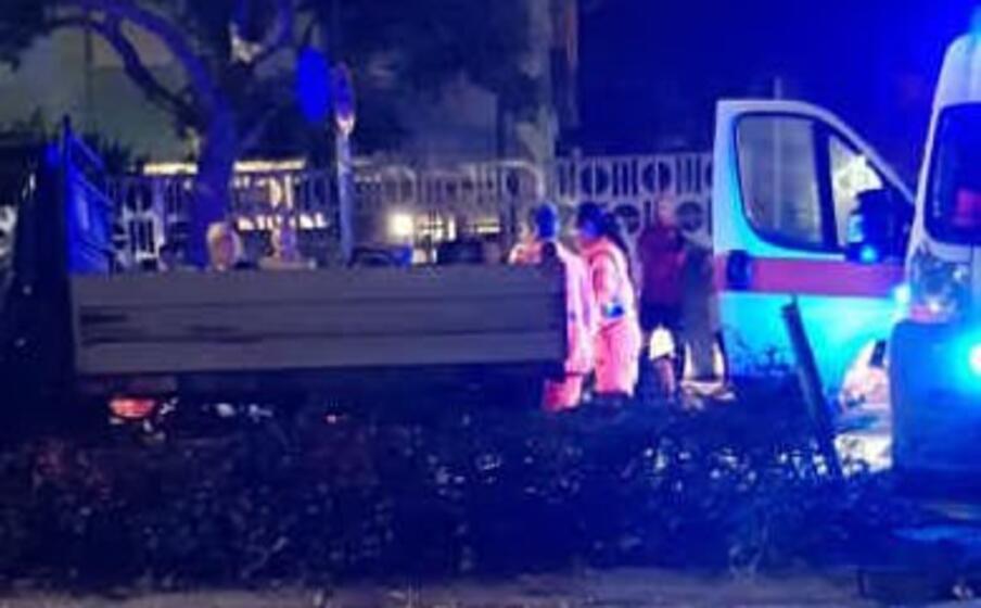 un immagine del luogo dell incidente (foto l unione sarda ena)