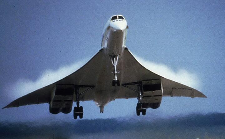 un concorde della british airways