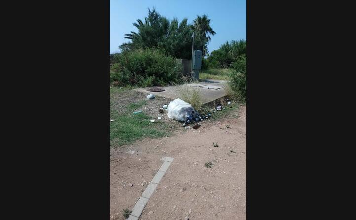 area di parcheggio a pagamento zona poetto a quartu sant elena la foto inviata da chiara teresa perra (02 09 2019)