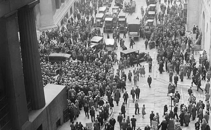 accaddeoggi 29 ottobre 1929 il crollo di wall street (foto wikipedia)